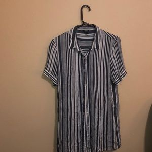 Beachy long shirt/short dress button down